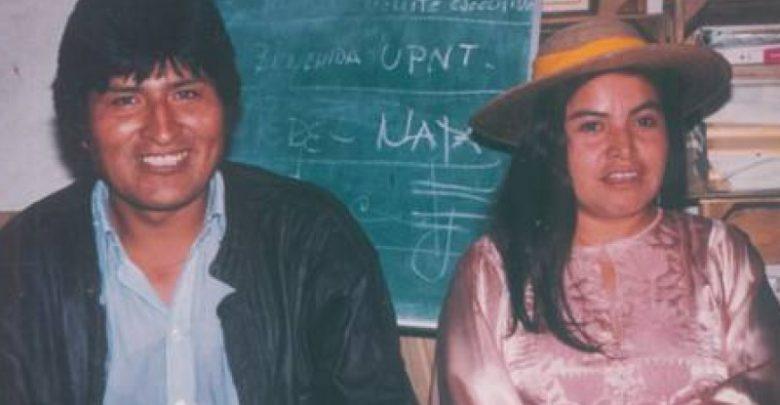 Evo Morales y activista queretana, María Luisa Resendiz