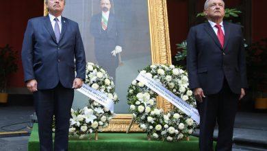 Photo of Presidente recuerda a Francisco I. Madero y José María Pino Suárez en su CVIII Aniversario Luctuoso